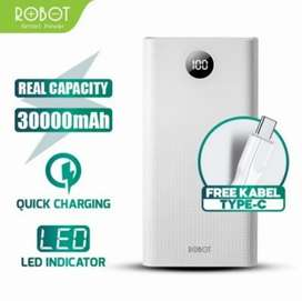 Power Bank Robot 30000mAh 22.5W Quick Charge 5A 3Output PowerBank