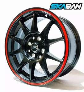 Jual velg racing HSR Untuk mobil Brio, agya, Ayla, Datsun Ring 15