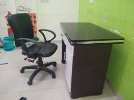 Computer Office Table with Computer Revolving Chair
