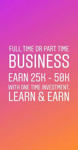 Part time or full time business with one time investment