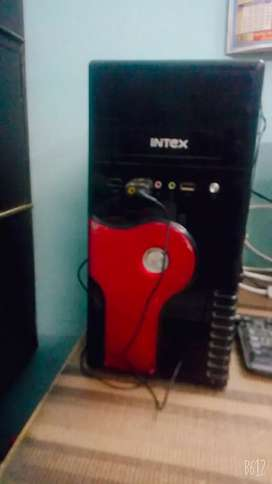 Moniter, cpu, mouse, cable, keyboard, wifi dongal