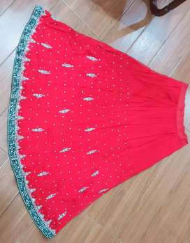 Bridal lehnga (Barat) Red and bottle green