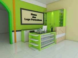 meja kantor partisi meja kursi cafe kantor dan rias lemari rak TV RY