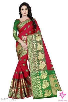 Attractive Art Silk Saree For Woman, 100% Art Working, Perfect Quality