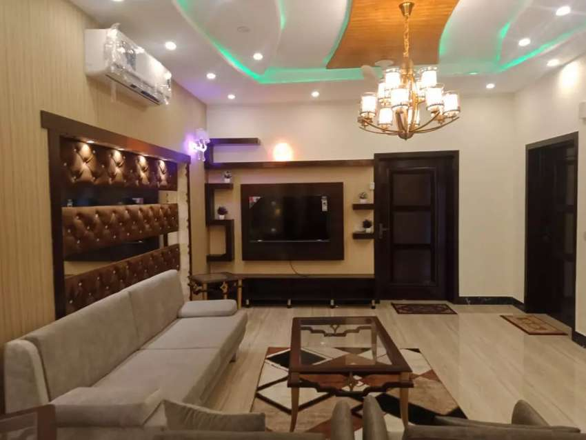 10 Marla fully furnished upper portion for rent bharia town Lahore 0