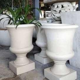 Pot bunga taman terazzo