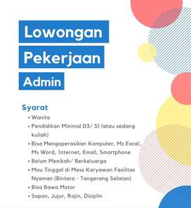 Dicari: Admin Wanita untuk Kantor