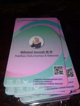 Idcard, membercard, kartu pelajar,kartu mahasiswa dll