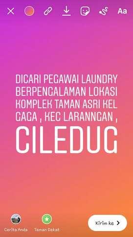 Dibutuhkan Karyawan Laundry Berpengalaman Daerah Taman Asri Larangan