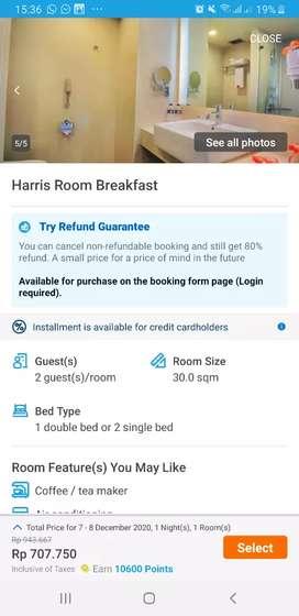 Jual Voucher hotel Harris hotel ciumbeluit inc BF