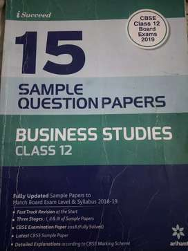 Sample paper book of class 12 of business studies