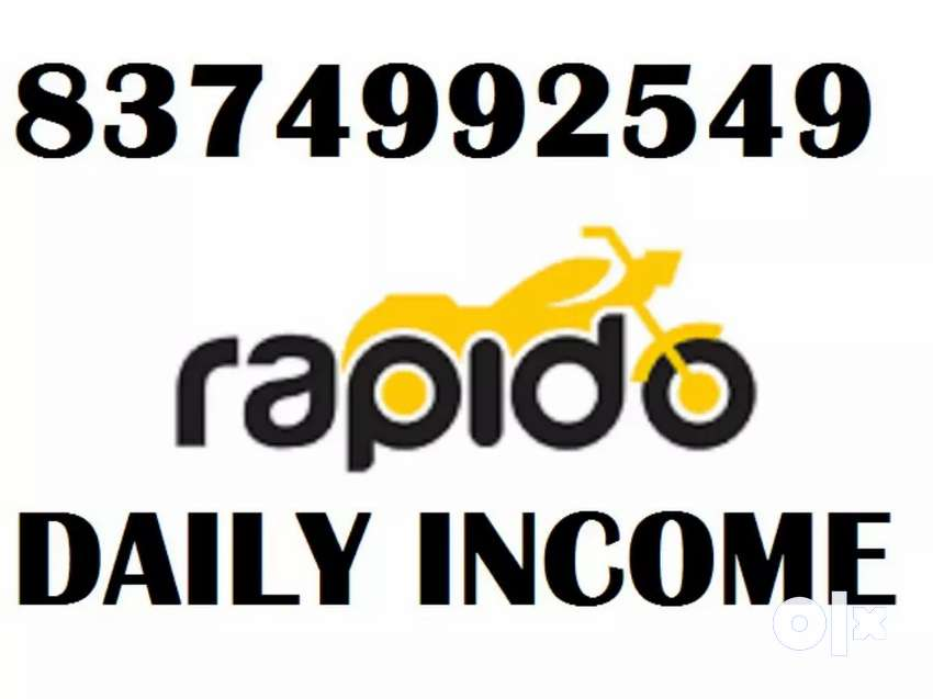 GET DAILY INCOME WITHOUT TARGETS FROM RAPIDO BIKE/FREE ATTACHMENT
