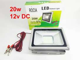 ROCIA 12v DC 20 watt 42 led SMD Floodled IP66 TIPIS / Lampu Sorot