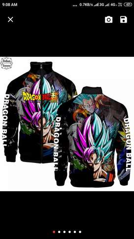 Dragon Ball z printed hoodies and jackets (T shirts)