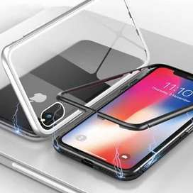 Case iPhone XR magnetic 2in 1 Backcase Transparan Bening