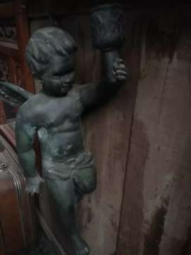 Patung Malaikat Baby Perunggu antik