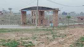 Level beautiful possession able main double road Corner plot available