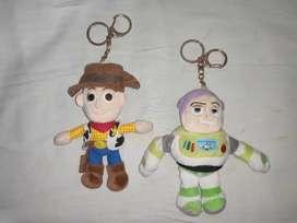 TOY STORY DISNEY Buzz light-year and Woody KEYCHAIN SOFT TOY KIDS