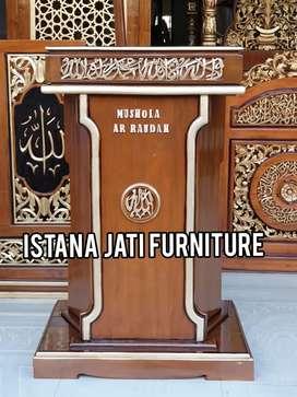mimbar masjid dan mushola material jati masjid mushola
