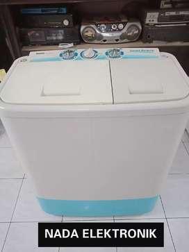 """Mesin cuci """"SANYO+MULUS+garansi+gratis ongkir+kencang+siap pakai"""""""