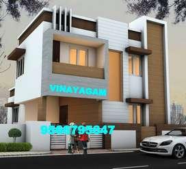 ATTRACTIVE ELEVATION villa for Sale at VADAVALLI (68 Lakhs)-Vinayagam