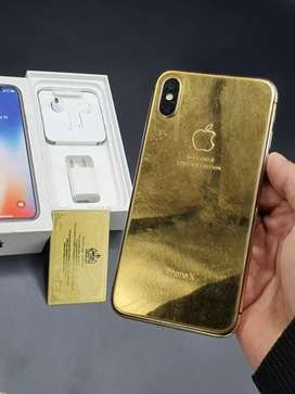 Iphone x 24k Gold Complete box with Certificate fcetime approv read ad
