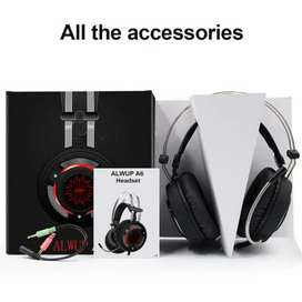 Alwup A6 headphones for pubg gaming special for pc and mobile suported
