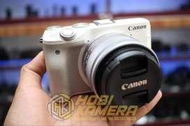 Kamera Mirrorless Canon Eos M3 Lensa 15-45mm AF Is STM Wi-Fi FULLSET