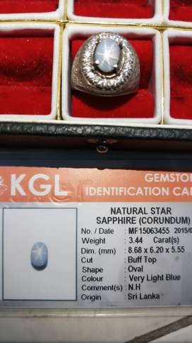Batu safir blue,ada sertifikat