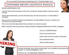 CUSTOMER RELATIONS EXECUTIVE (FEMALE)