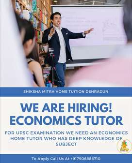 Urgent need an Economics Tutor for upsc examination