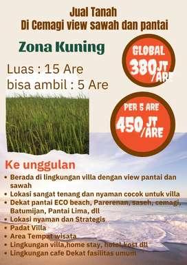 Dijual Tanah di Cemagi View Pantai dan Sawah