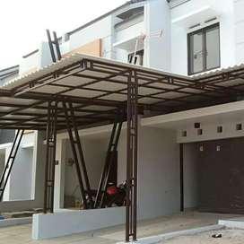 Kanopi besi hollow atap allderon//kanopi atap poli karbonet