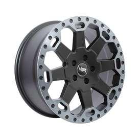 jual velg HSR-BAHOROK-H-BW200-Ring-18x8-H5x1143-ET35-Matte-Black-Grey-