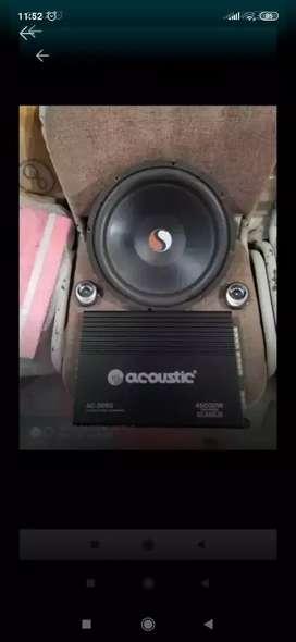 Power acoustic + sub + tweeter ( Megah top )