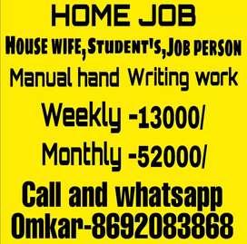Part Time Handwriting job