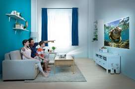 Mini LED Projector Watch TV Movies on Big Screen Like Home Theater