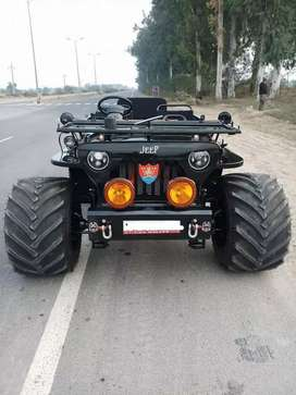 Black open jeep
