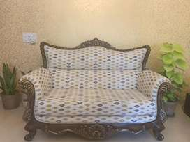 Sofa set with center table in excellent condition .
