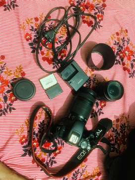 Canon 200D with 18-55mm and 55-250mm Lens