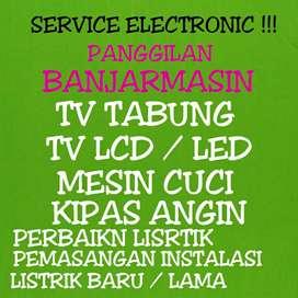 service tv lcd led mesin cuci kipas angin