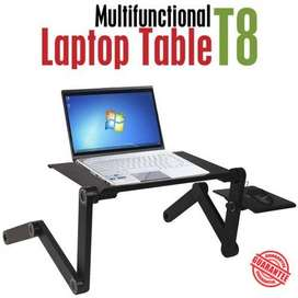 T8 Table for Laptop Stand for Bed and Sofa, Desk Portable Adjustable L