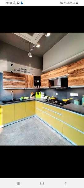Modular kitchen wardrobe and all furniture work..