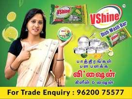WANTED DEALERS All Over Tamilnadu - VSHINE DISHWASH BAR