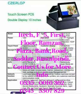 Touch ECR Machine Double Display