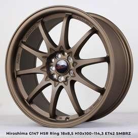 Ciclan Bunga 0% Velg HIROSHIMA G147 HSR R18X85 H10X100-114,3 ET42 SMBR