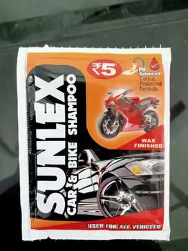 Wanted distributors for sunlex car shampoo,