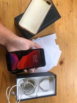 Iphone 7 plus jetblack 256GB fullset