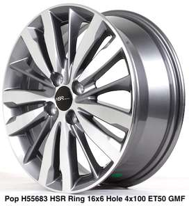 velg recing 	POP 55683 HSR R16X6 H4x100 ET50 GMF