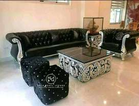 sofa black 31+1 dan 2 stool